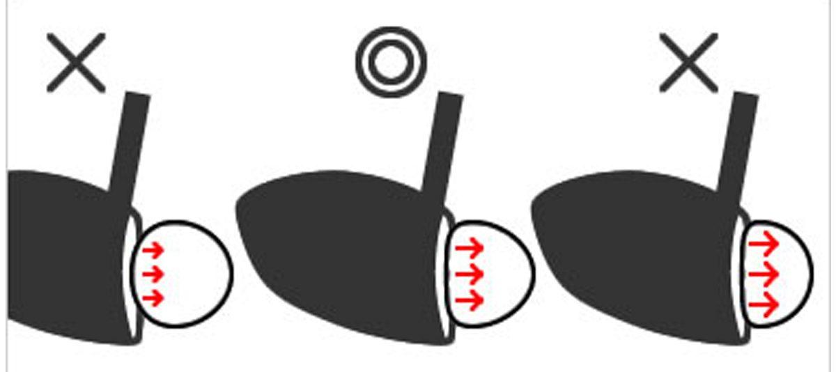 ボールはインパクトで適度につぶれる